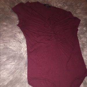 Burgundy body suit